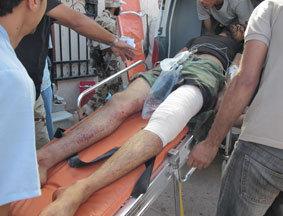 本网记者利比亚苏尔特前线实拍