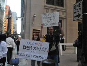 芝加哥洛杉矶抗议者响应