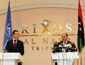 北约秘书长造访利比亚 宣布在利军事行动结束