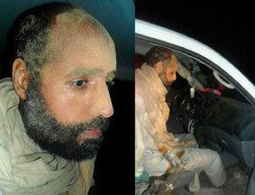 卡扎菲次子赛义夫被运至津坦 满脸沙土