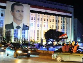 叙利亚政府支持者举行集会