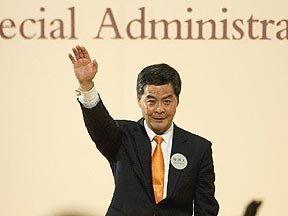 梁振英当选香港第四任行政长官