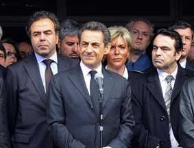 萨科齐在图卢兹发表讲话