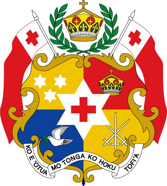 汤加国徽图片