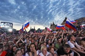 莫斯科人参加活动