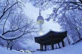 雪中首尔塔