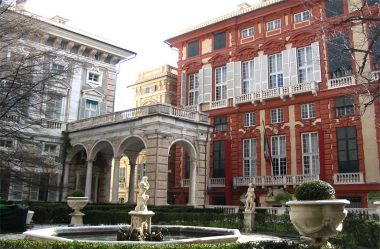 黑白欧式宫殿图片