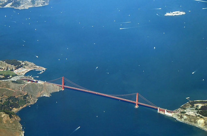 [大全]金门大桥俯瞰::金门大桥简笔画::金门大桥电影