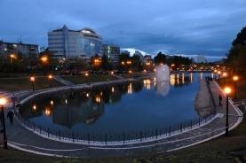 哈巴罗夫斯克傍晚景色