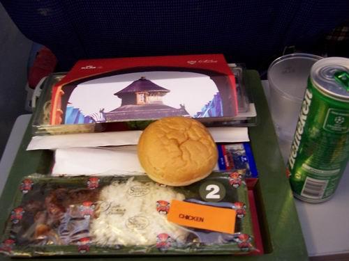 荷兰皇家航空的飞机餐